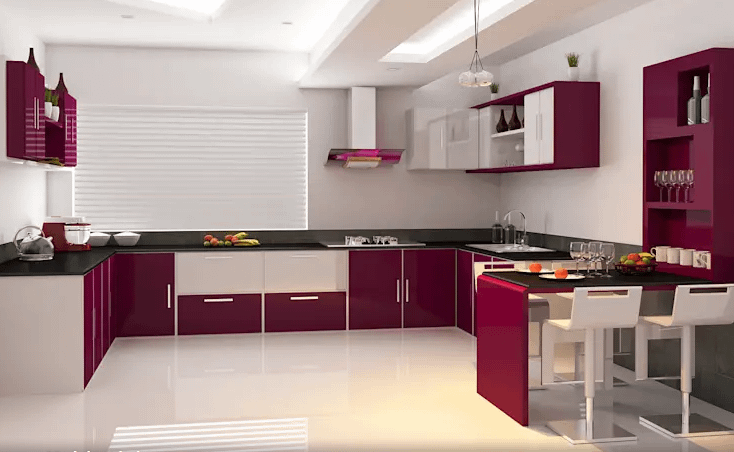 Modular Kitchen Color Combination